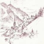 """""""S. CRISTINA VALGARDENA"""" - Inchiostro su carta, 21x28 cm, anno 2012"""