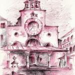 """""""CAMPO S. GIACOMETO"""" - Inchiostro acquerellato su carta, 21x28 cm, anno 2013"""