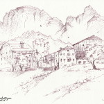 """""""MASI DI COLFOSCO"""" - Inchiostro su carta, 21x28 cm, anno 2014"""