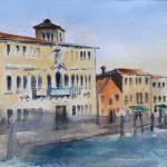 """""""MUSEO DEL VETRO"""" - Acquerello su carta, 20x50 cm, anno 2019"""