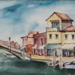 """""""RIVA LONGA"""" - Acquerello su carta, 20x50 cm, anno 2019"""