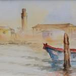 """""""CANAL GRANDE DI MURANO"""" - Acquerello su carta, 20x50 cm, anno 2018"""