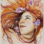 """""""VALERIA"""" (studio) - Acquerello su carta, 25x36 cm, anno 2018"""