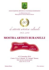 Locandina - Mostra Artisti Buranelli